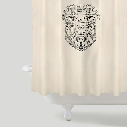 Paris Postage Shower Curtain