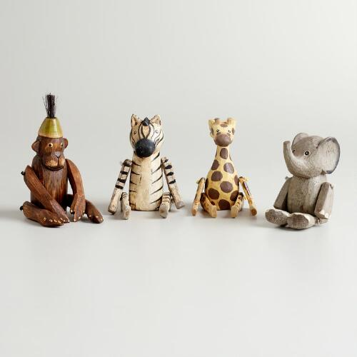 Mini Animal Sitters, Set of 4