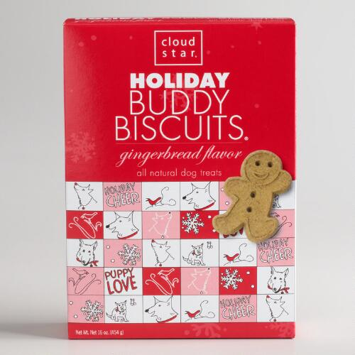 Holiday Buddy Biscuits Gingerbread Dog Treats