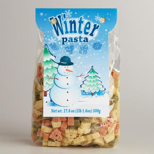 World Market® Snowman, Snowflake and Reindeer Pasta