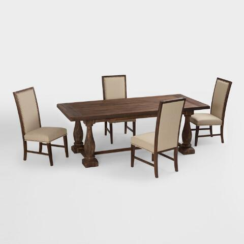 Rustic java greyson fixed dining table world market for Table 6 fixed costs