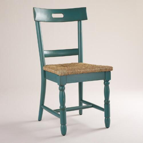 Camille Chairs with Rush Seat, Set of 2