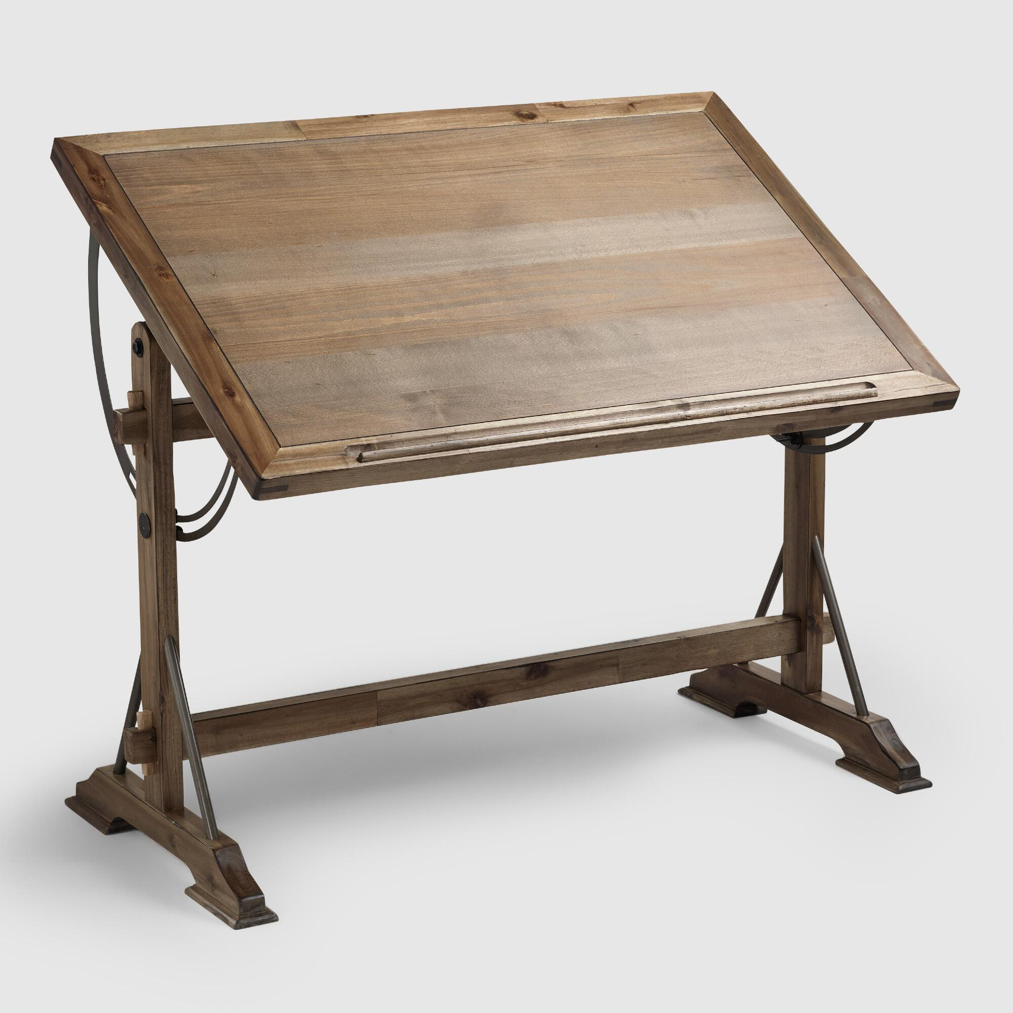 how to build an adjustable drafting table