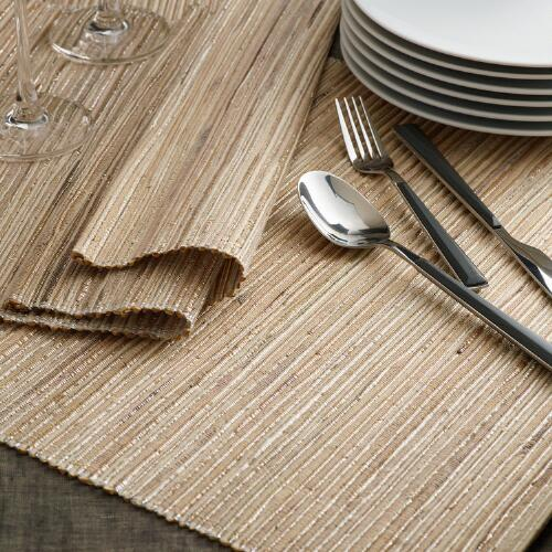 Natural Fiber and Lurex Placemats, Set of 4
