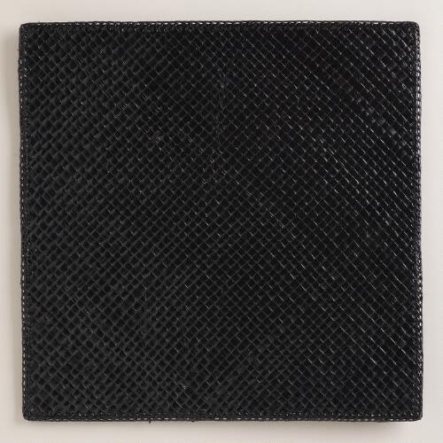 Black Pandan Square Placemats, Set of 4