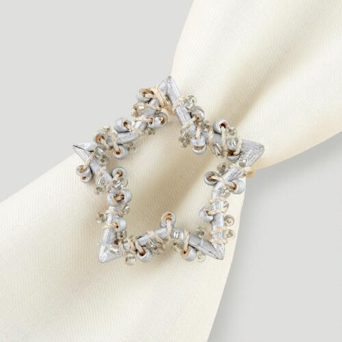Star Napkin Rings, Set of 4