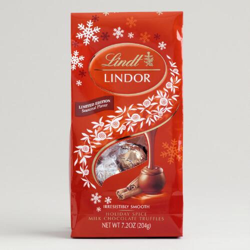 Limited Edition Lindt Holiday Spice Truffles Bag