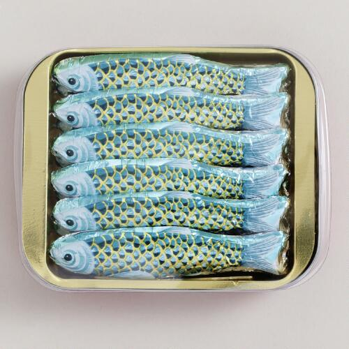 Chocolate Sardines, Set of 6