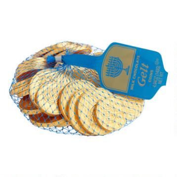 Steenland Mesh Bag of Hanukkah Gelt, Set of 13
