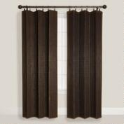 Espresso Bamboo Ring Top Curtain