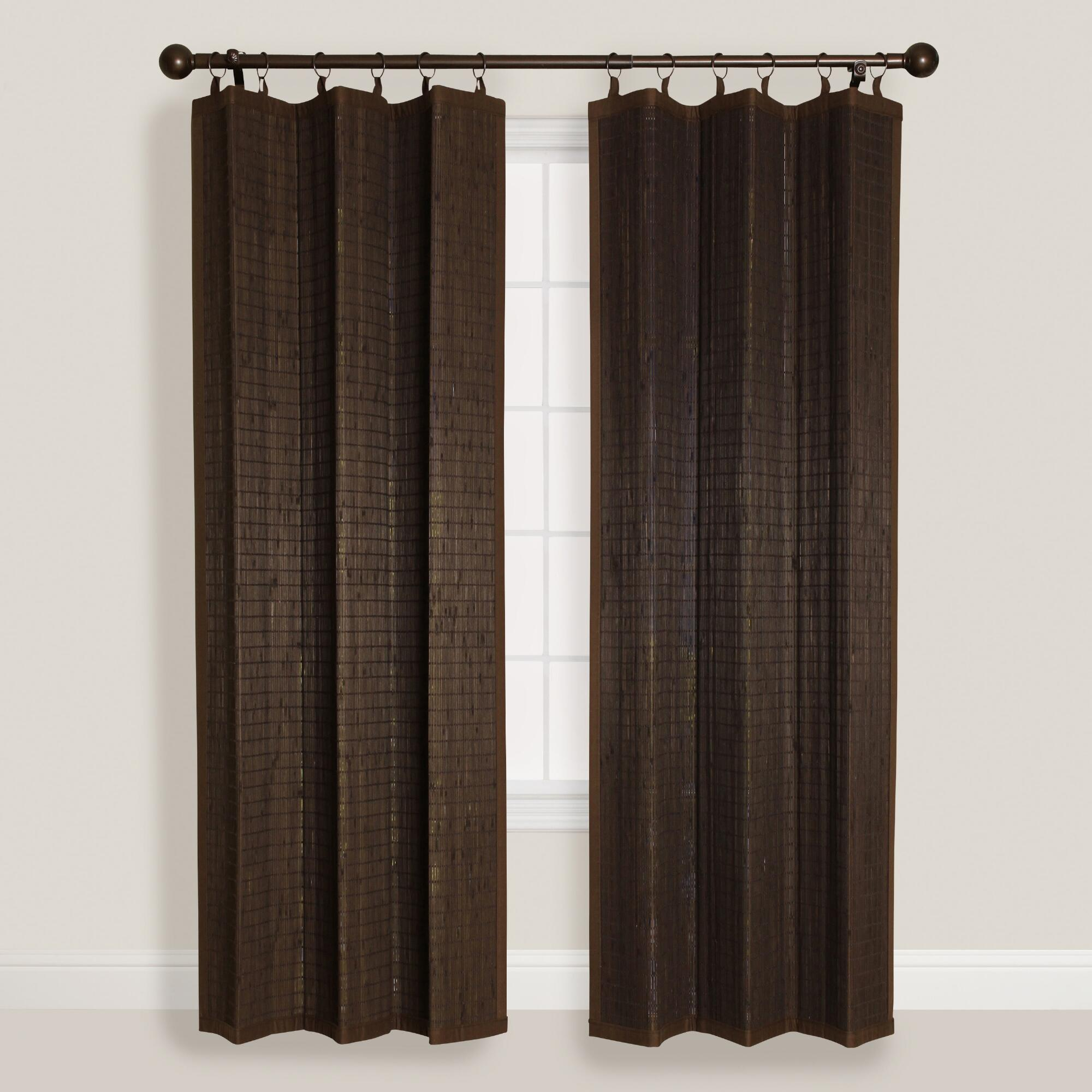 espresso bamboo ring top curtain world market. Black Bedroom Furniture Sets. Home Design Ideas