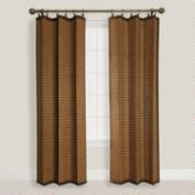 Natural Colonial Bamboo Ring Top Curtain