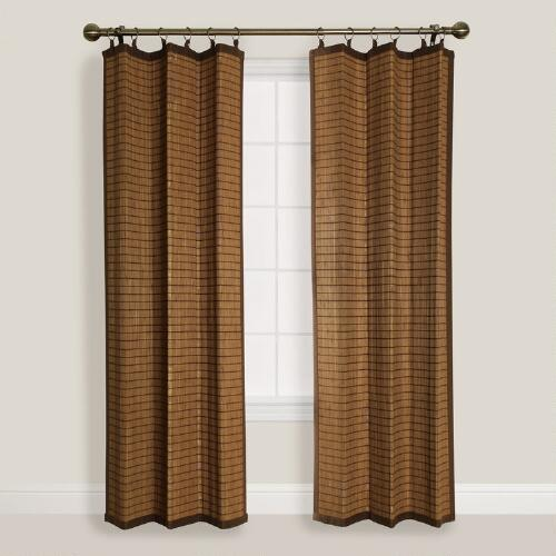 Colonial Bamboo Ring Top Curtains