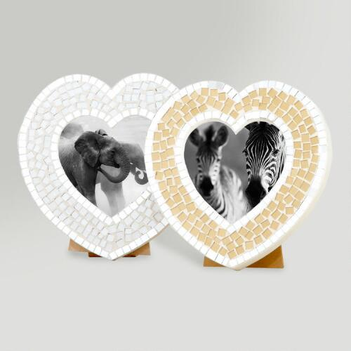 Heart Mosaic Eva Frame, Set of 2