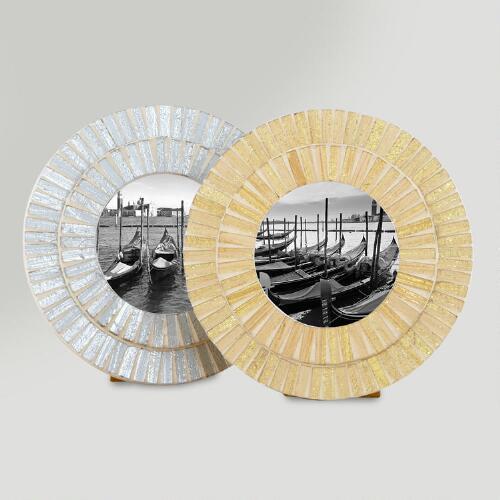 Round Mosaic Eva Frame, Set of 2