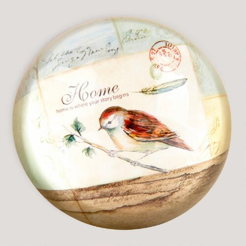 Vintage Bird Paperweight