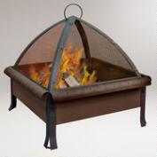 Tudor Fire Pit, Speckled Bronze Finish