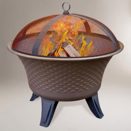 Bella Fire Pit, Speckled Bronze Finish