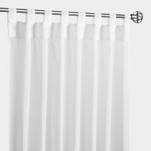 White Escape Tab Top Curtain