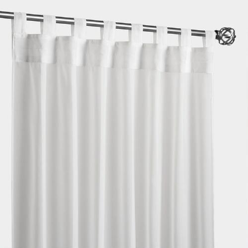 Ivory Escape Tab Top Curtain