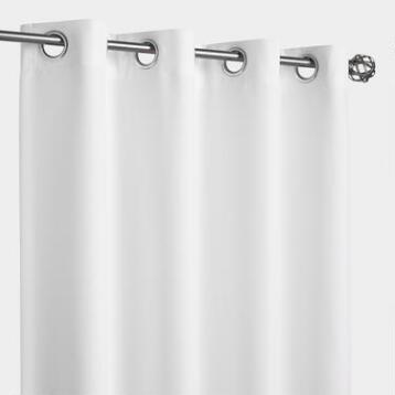 White Gazebo Grommet Top Outdoor Curtain