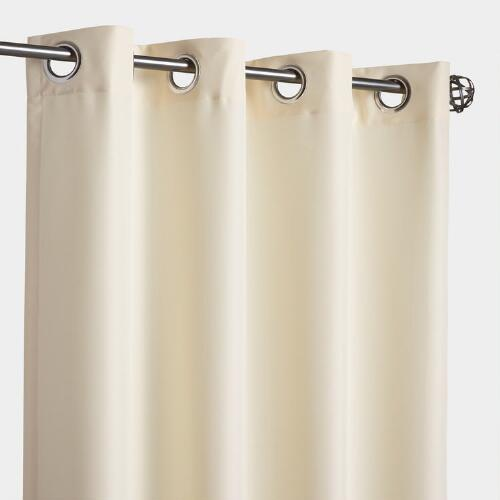 Butter Yellow Gazebo Grommet Top Outdoor Curtain
