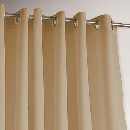 Khaki Gazebo Grommet Top Outdoor Curtain