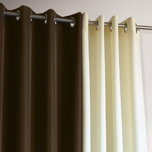 Brown Gazebo Grommet Top Outdoor Curtain