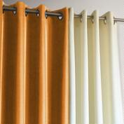 Orange Gazebo Grommet Top Outdoor Curtain