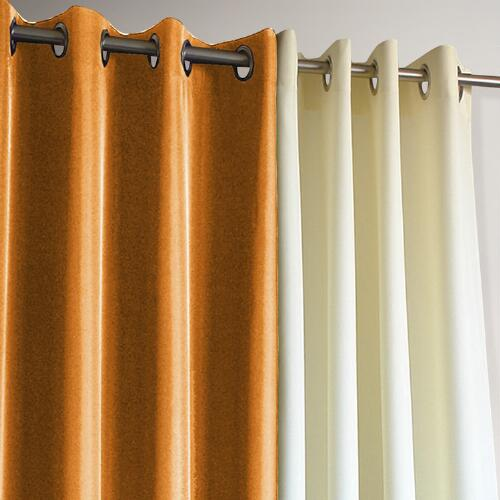 Orange Gazebo Grommet Top Curtain