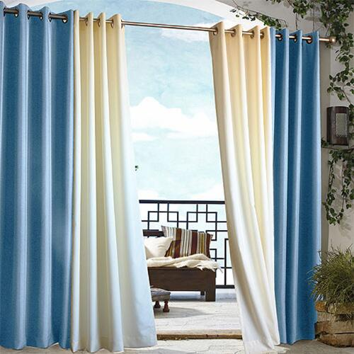 Blue Gazebo Grommet Top Curtain