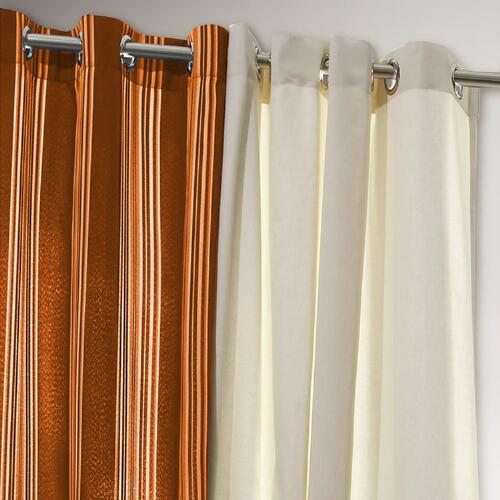 Orange Striped Gazebo Curtain