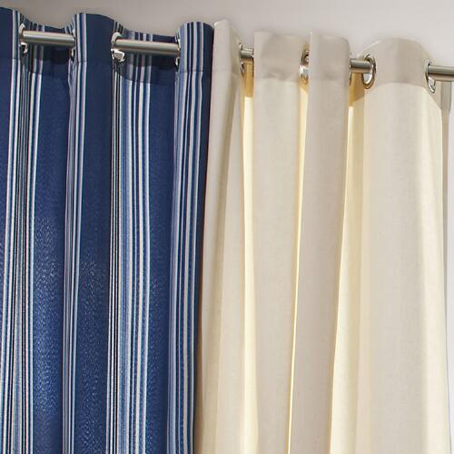 Blue Striped Gazebo Curtain