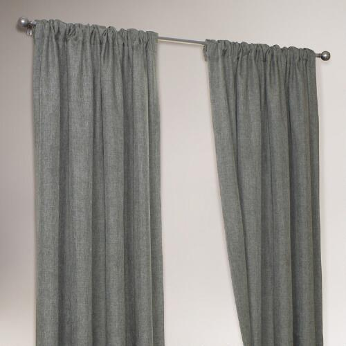 Blue Gray 4 in 1 Complete Window Curtain