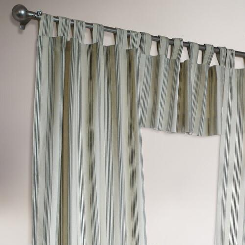 Thermalogic® Sage Striped Weathermate Curtains, Set of 2