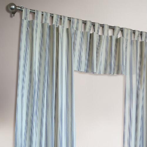 Thermalogic® Blue Striped Weathermate Curtain, Set of 2