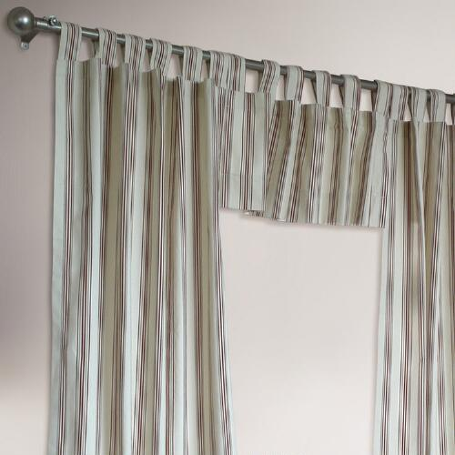 Thermalogic® Terracotta Striped Weathermate Curtains