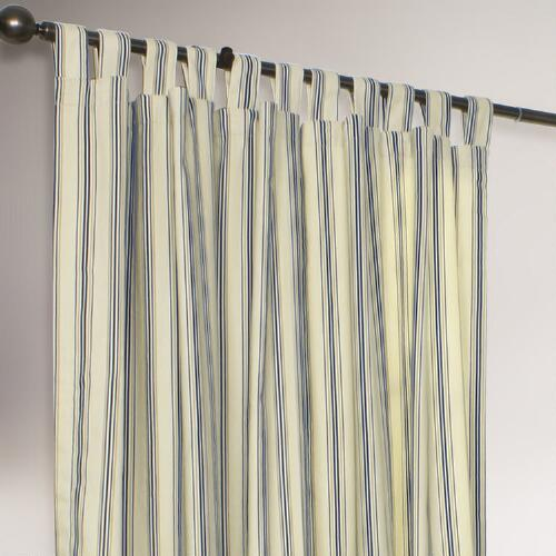Thermalogic® Navy Striped Weathermate Curtains, Set of 2