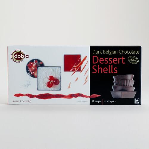 Dobla Dark Chocolate Dessert Shells Box