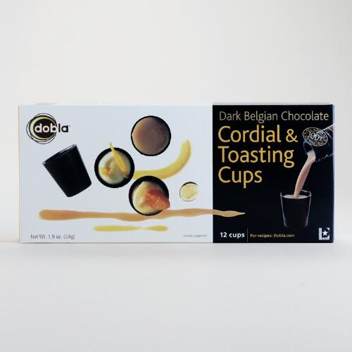 Dobla Dark Chocolate Cordial and Toasting Cups Box