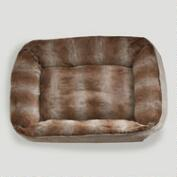Faux Fur Bolster Pet Bed