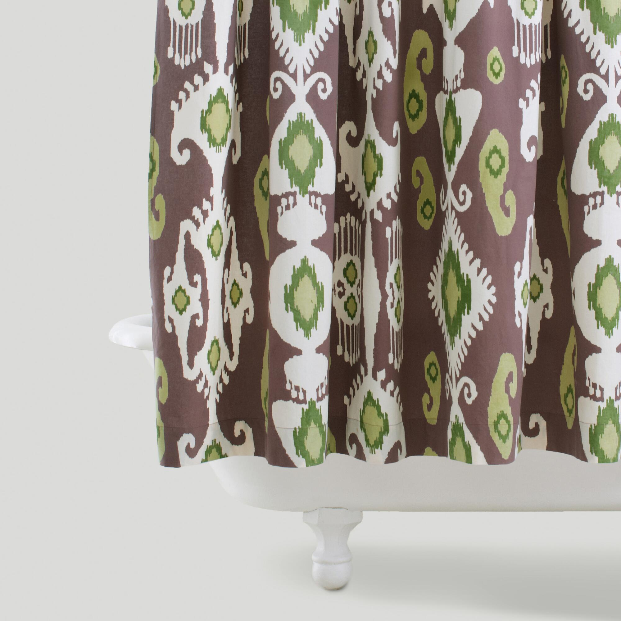 Purple Green Ikat Shower Curtain World Market