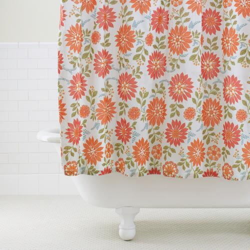 Ada Aqua Floral Shower Curtain