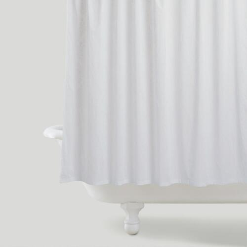 White Booti Shower Curtain