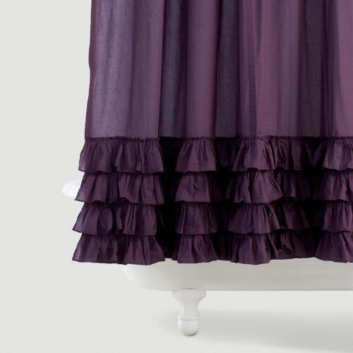 Olivia Ruffle Shower Curtain