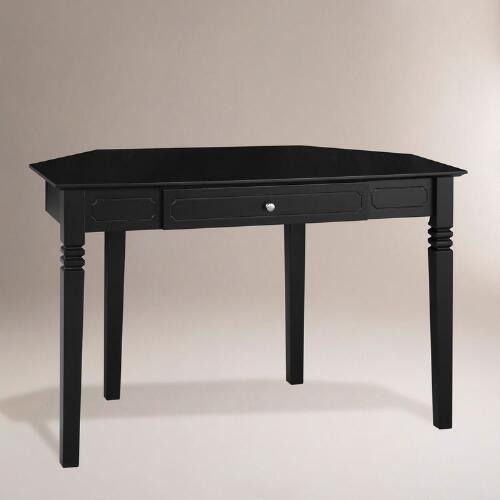 Black Douglas Corner Desk