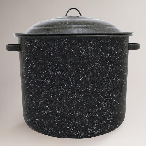 Black Graniteware 34 Qt Stock Pot