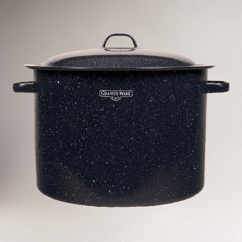 Midnight Blue Graniteware Heritage Canner Pot and Rack