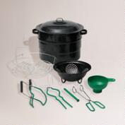 Black Graniteware 9-Piece Canning Kit