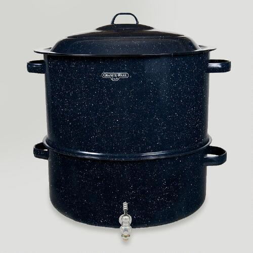 Midnight Blue Graniteware Heritage Collection Lobster Pot